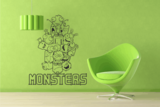 Muursticker monster_