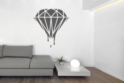 Muursticker diamant